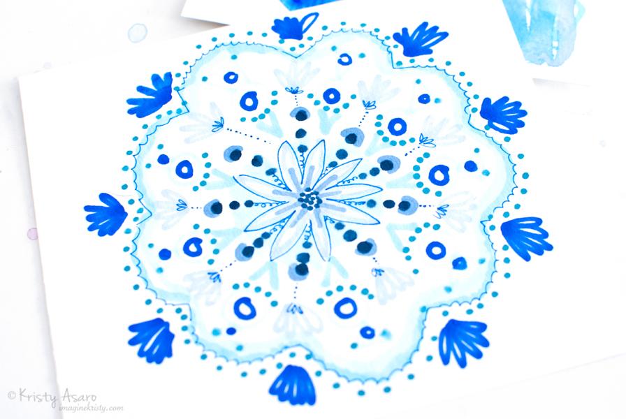 Blue Mandala by Kristy