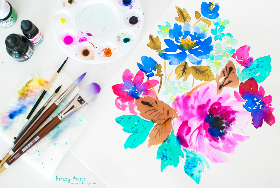 Watercolor Florals | Kristy Asaro
